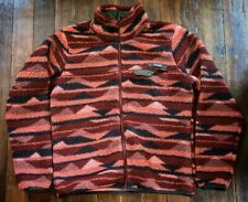 Vintage Columbia Mens Sz L Graphic Print Synchilla Fleece Full Zip Jacket Large