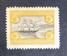 1905 Danish West Indies DWI SG59 Sc36 5 Francs MH CV £95