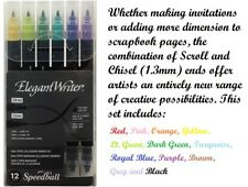 Speedball Elegant Writer Calligraphy and Fine Lettering Marker Pen Sets Colour Dual Tipped 12 Set