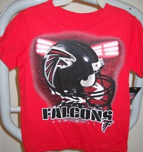"""ATLANTA FALCONS THREE TODDLER ( 3T ) RED TEE-SHIRT WITH HELMET AND """"LIGHTS"""""""