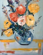 PATRICIA NOLAN-BROWN Oil Painting Flowers Floral Impressionism Abstract