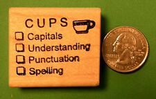 CUPS - Primary Teacher's Rubber Stamp, wood mounted