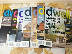 7 Dwell Magazine Back Issues Lot 2008 2009 Incomplete Years Modern Home Decor