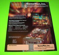 CAPTAIN HOOK Pinball Flyer Original NOS Flipper Arcade Game Promo GAME PLAN 1985