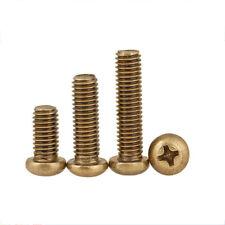 Solid Brass Pan Head Phillips Screws M2 M2.5 M3 M4 M5 M6 Machine Screws Bolts