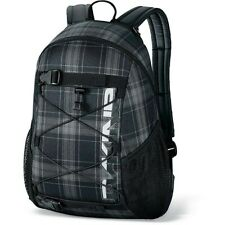 Dakine WONDER 15L Northwood Black Plaid Skateboard Carry Bungee Storage Backpack