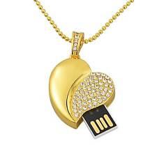 Crystal Heart Model 8GB-64GB USB 2.0 Flash Drive Memory Stick Pendrive Xmas Gift