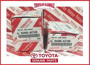 2007-2020 TOYOTA TUNDRA FRONT & REAR BRAKE PADS GENUINE 04465-AZ120/04466-AZ108
