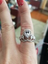 sterling silver princess crown ring size 7