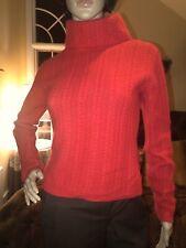 Marker Red Sweater Bland Of Lamb Wool, Angora Sz S