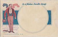PATRIOTIC U.S.A. Postcard 1905 YANKEE DOODLE DANDY Top Hat Stars Stripes 92
