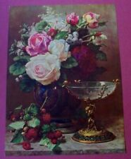 Jean Baptiste Robie, Mixed Flowers, Compote, Berry, Salesman Sample Print 1940s