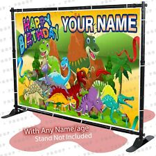 Dinosaurs Birthday Banner Party Backdrop Decoration Poster Sign kid