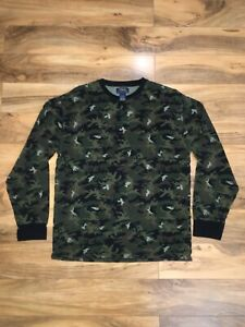 Polo Ralph Lauren Camouflage Thermal XL Pony Green Black Brown