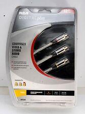 RCA DH12AV Digital Plus Composite Video Stereo Audio Cables - 12 ft NIP