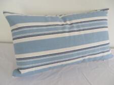 Blue & White Nautical Stripe Cotton Beach Rectangular Cushion Cover 30x50cm