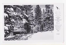 RPPC,Crystal Lake,Above Azusa,CA.Crystal Lake Store in Winter,Frasher,c.1950s
