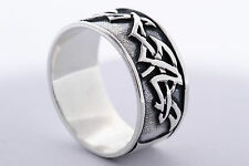 925 STERLING SILVER SOLID MENS NO STONE RING SIZE UK-  P or  U