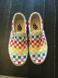Vans Unisex Asher Rainbow Checkered Shoes Size Mens 6.5/Womans 8.0