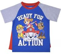 NWT TODDLER BOY PAW PATROL  SHIRT WITH DETACHABLE CAPE SIZE 2T
