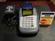 VeriFone Omni 3200se Credit Card Reader Printer With Power supply cord adapter