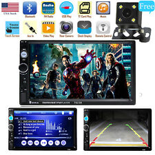 "Car Stereo Radio DVD HD MP5 Player 7"" Touch Screen Bluetooth 2DIN + Rear Camera"
