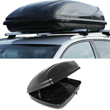 360L UNIVERSAL GLOSS BLACK LUGGAGE STORAGE ROOF BOX TRAVEL CARRIER