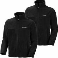 "Mens Columbia ""Granite Mountain 2.0"" Full Zip Fleece Sweater Jacket MEDIUM BLACK"