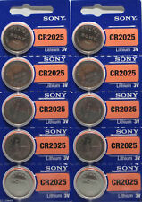 **FRESH NEW** 10 x SONY CR2025 Lithium Battery 3V Exp 2027 Pack 10 pcs Coin Cell