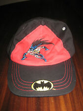 Batman Ball Cap in Black Red 100% Cotton For Child One Size NEW