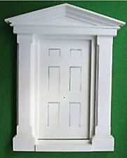 White Plastic Large Georgian Door 12th Scale Ideal for Dolls House / Fairy Doors