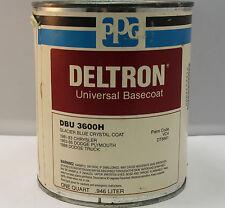 PPG Deltron DBU 3600 Glacier Blue Crystal universal basecoat paint quart VC4