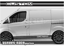 Ford Transit CUSTOM 002 ST style racing stripes graphics stickers decals