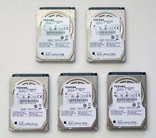 LOT OF 5 - TOSHIBA 250GB SATA Hard Drive - MK2555GSXF - HDD2H74 - ORIGINAL APPLE