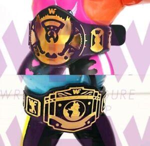 Belts for WWF WWE Hasbro Galoob Mattel Retro Figures - BLACK 1xEagle & 1x IC WFW