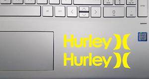 """(X2) 6"""" Hurley Surfing Skateboarding Die-Cut Vinyl Decal Stickers   Choose Color"""