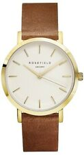 Rosefield The Gramercy Gold Watch - White/Brown