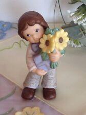 Goebel Nina & Marco mit Sonnenblumen und Geschenk @ RARITÄT @ wie NEU