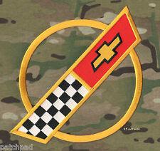 """VETTE CORVETTE RACE TEAM '84-'96 Corvette C4 FRONT HOOD NOSE EMBLEM 9.5"""" PATCH"""