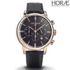Orologio uomo Locman collezione 1960 crono 0254R01R-RRBKRGPK oro rosa pelle nera