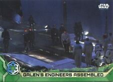 Star Wars Rogue One Series 2 Green Base Card #32 Galen's Engineers Assembled