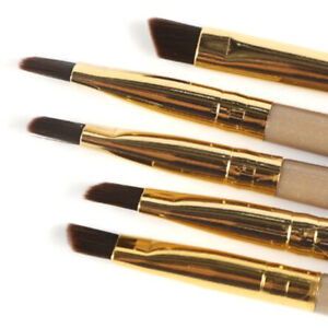 5Pcs Eyebrow Inclined Flat Angled Brush Eyeliner Eyeshadow Eye Brow Makeup Brush