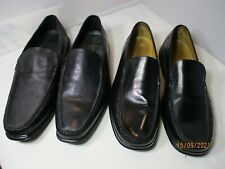 New listing Cole Haan Men's US 11.5 Black Dress Loafers 2 Pair Good Condition