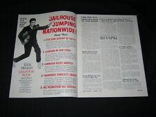 1957 GREATER AMUSEMENTS Elvis Presley JAILHOUSE ROCK Devil's Hairpin FORTY GUNS