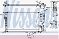 Kühler Motorkühlung - Nissens 63578A