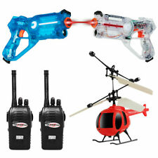 Infrared Laser Tag Guns 2 Players Blasters Game w/ 2 Walkie talkies for Kids Toy
