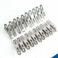 20x Clip Molletta da Bucato in acciaio inox Molletta Pin Clip Molletta da Bucato