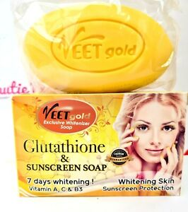 Veetgold Exclusive Glutathione & Sunscreen Soap 7 Days Whitening 200g