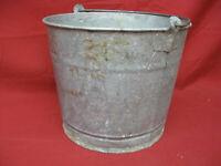 Vintage #10 Galvanized Metal Steel Bucket Pail Heavy Duty Handle #2