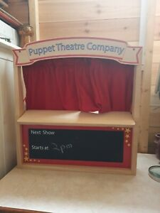 Early Learning Centre, Wooden Puppet Theatre. With Jack & The Beanstalk Puppets